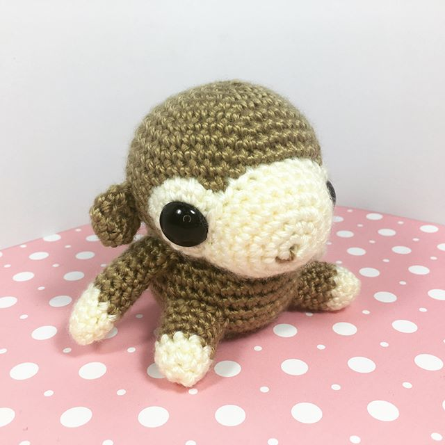 Got a custom order for a monkey on etsy!  I'm really happy with how this turned out.  The pattern will be posted on studiocrafti.com next week! #amigurumi #craft #crochet #kawaii #cute #monkey #chimp #diy #handmade #handcrafted #pattern #crochetpattern #studiocrafti