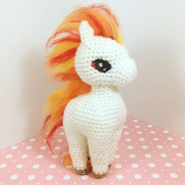 Here is a project I made for my supporters on Patreon!  Ponyta was always one of my favorite Pokémon.  #ponyta #pokemon #rapidash #amigurumi #crochet #kawaii #cute #yarn #bhooked #plushie #pony #horse #diy #handmade #handcraft #felt #felting #needlefelting #studiocrafti