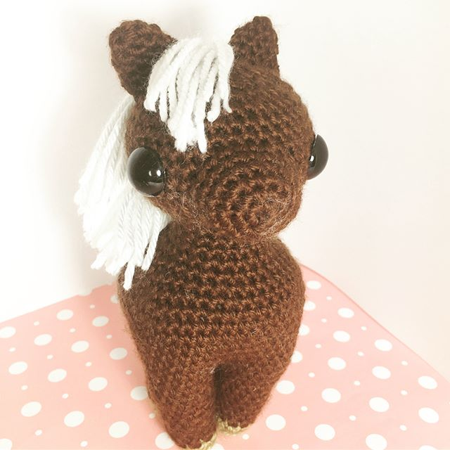 Finished filming my horse tutorial!  I'm still trying to find a lighting setup I like for pictures.  #amigurumi #crochet #yarn #knit #sew #craft #handmade #handcrafted #kawaii #cute #bhooked #horse #pony #plushie #studiocrafti